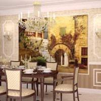 вариант красивого декора квартиры с росписью стен фото