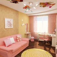 идея красивого стиля комнаты для девочки 12 кв.м картинка