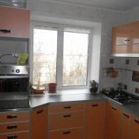 идея яркого стиля кухни 14 кв.м картинка