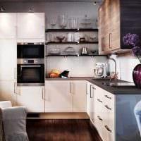идея красивого интерьера кухни 8 кв.м картинка