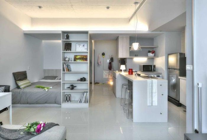 идея необычного дизайна квартиры студии
