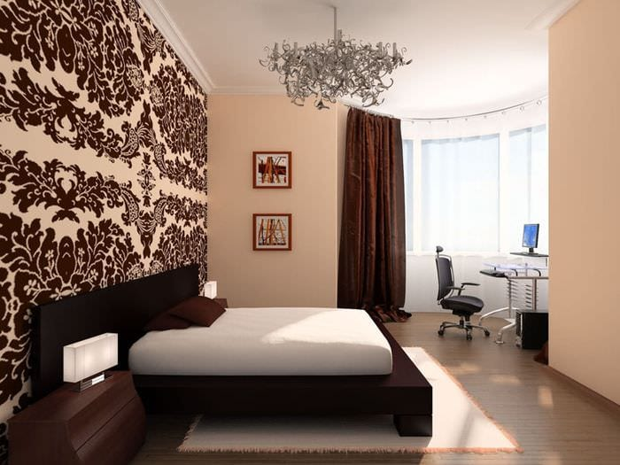 вариант необычного интерьера малогабаритной комнаты
