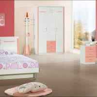 идея необычного дизайна спальни для девочки в современном стиле картинка