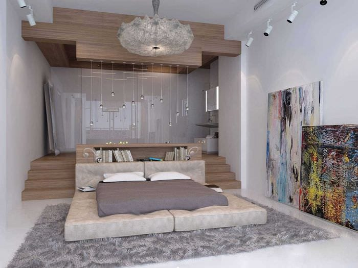идея необычного сочетания бежевого цвета в стиле комнаты
