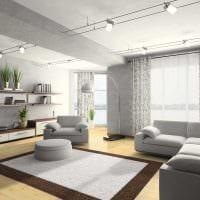 вариант красивого сочетания цвета в дизайне современной комнаты картинка
