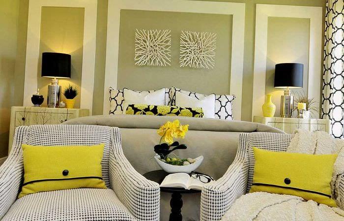 идея необычного сочетания цвета в интерьере современной квартиры