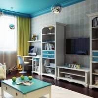 пример яркого современного интерьера детской комнаты картинка