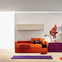 идея красивого современного интерьера детской комнаты картинка