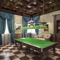 идея необычного дизайна бильярдной комнаты картинка