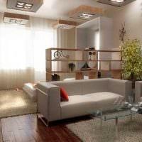 вариант яркого стиля двухкомнатной квартиры фото
