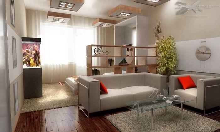 Планировка мебели в однокомнатной квартире с ребенком фото интерьера