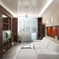 вариант светлого декора гостиной спальни картинка