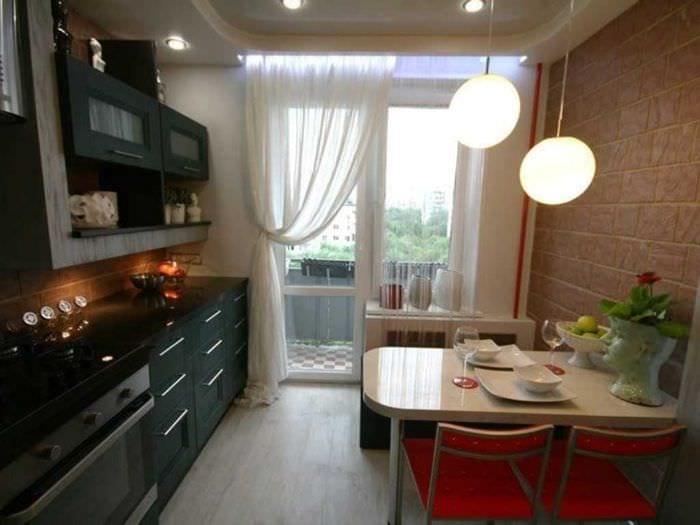 пример красивого декора кухни 9 кв.м