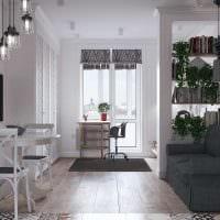 идея светлого дизайна квартиры в скандинавском стиле фото