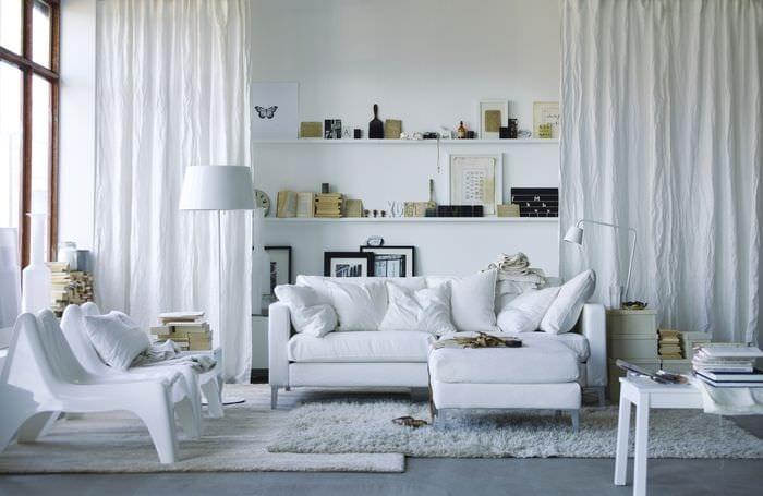 идея светлого стиля комнаты в скандинавском стиле