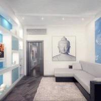 вариант необычного дизайна маленькой комнаты фото