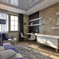 идея яркого дизайна спальной комнаты для молодого человека картинка
