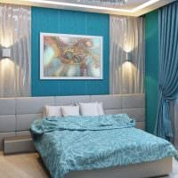 идея использования интересного голубого цвета в стиле квартиры картинка