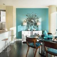 идея использования яркого голубого цвета в дизайне дома картинка