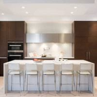 идея применения яркого дизайна кухни картинка