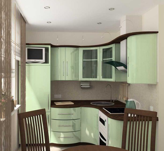 пример использования необычного стиля кухни