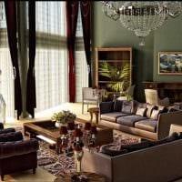 вариант применения светлого декора комнаты в стиле ретро картинка