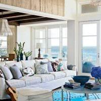 идея применения интересного голубого цвета в дизайне квартиры картинка