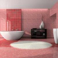 пример использования розового цвета в ярком интерьере квартире картинка