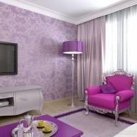 пример использования розового цвета в ярком дизайне комнате фото