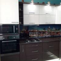 идея использования светлого декора кухни фото