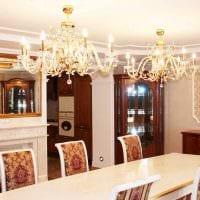 идея использования светового дизайна в красивом стиле квартиры фото