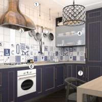 пример использования красивого интерьера комнаты в стиле ретро картинка