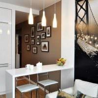 вариант использования светлого декора кухни фото