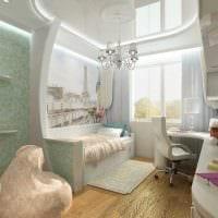 вариант светлого стиля детской комнаты для девочки 12 кв.м картинка