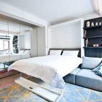 пример необычного дизайна двухкомнатной квартиры фото