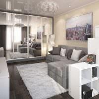 вариант яркого интерьера двухкомнатной квартиры картинка