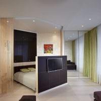 идея необычного дизайна спальни гостиной фото