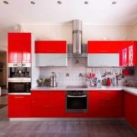вариант необычного дизайна кухни 9 кв.м фото