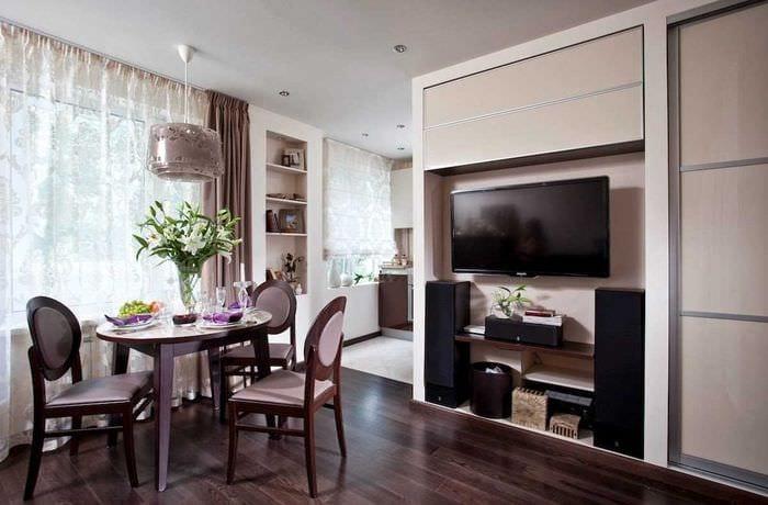 идея красивого декора квартиры студии