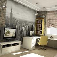 идея светлого стиля малогабаритной комнаты картинка