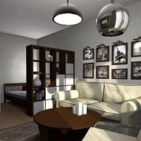 идея необычного стиля гостиной спальни 20 кв.м. картинка