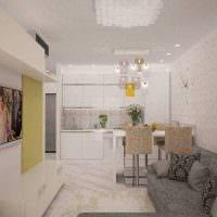 вариант светлого дизайна двухкомнатной квартиры фото