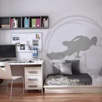 вариант яркого стиля спальной комнаты для молодого человека картинка