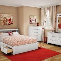 идея яркого интерьера спальни для девочки в современном стиле картинка
