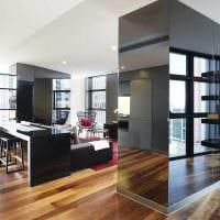 вариант светлого интерьера квартиры студии фото