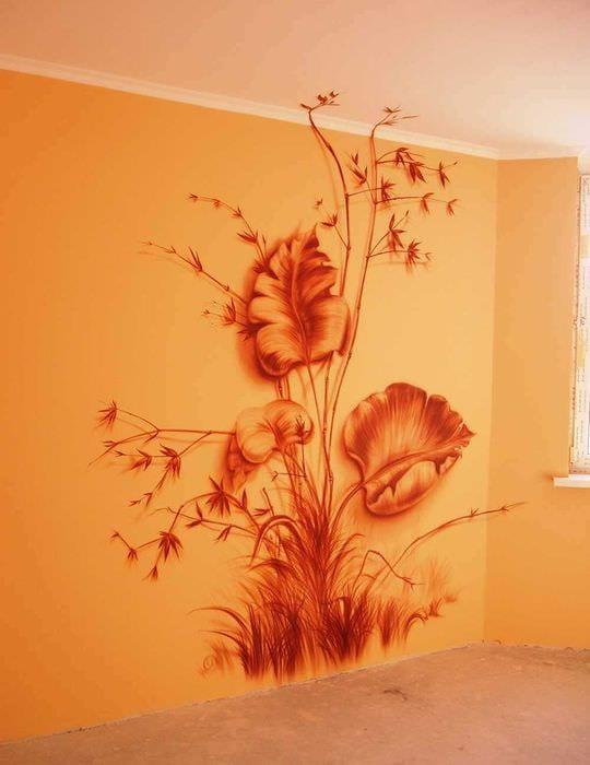 Рисунки стенах своими руками фото