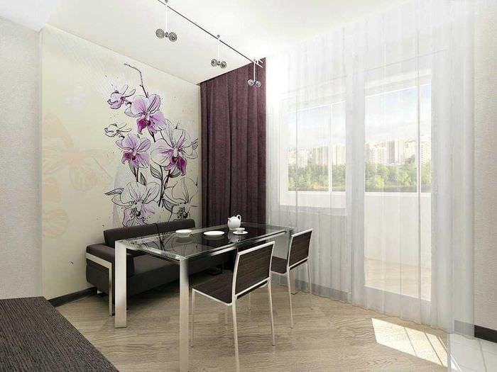 идея красивого дизайна квартиры с росписью стен
