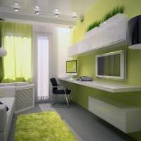 идея необычного дизайна маленькой комнаты в общежитии фото