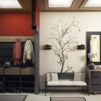 вариант красивого стиля современной прихожей комнаты фото