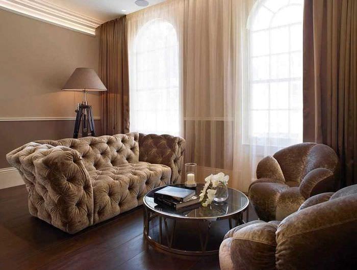 вариант яркого сочетания цвета в стиле современной комнаты